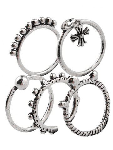 Cheap Vintage Alloy Crucifix Beads Cuff Rings