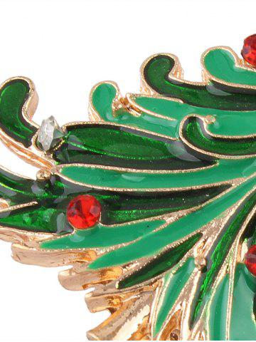 Outfits Rhinestone Christmas Tree Star Brooch - GOLDEN  Mobile
