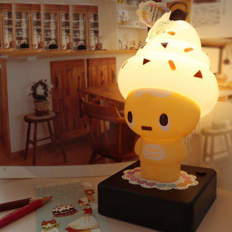 Ice Cream Cartoon Characters USB bureau Protection des yeux Lampe Jaune