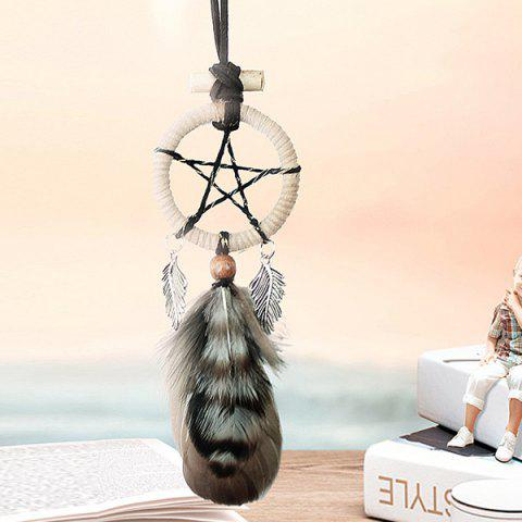 Best Hot Selling Circular Net With Feathers Pentagram Mini Dreamcatcher Wall Hanging Decor