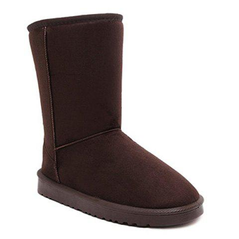 Best Concise Flat Heel Fold Down Snow Boots