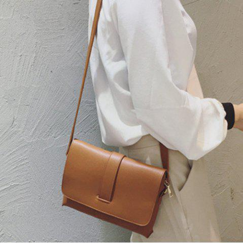 Trendy Strap PU Leather Crossbody Bag