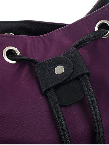 Cheap Casual Nylon Front Pocket Backpack - PURPLE  Mobile