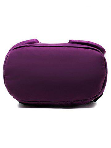 Best Casual Nylon Front Pocket Backpack - PURPLE  Mobile