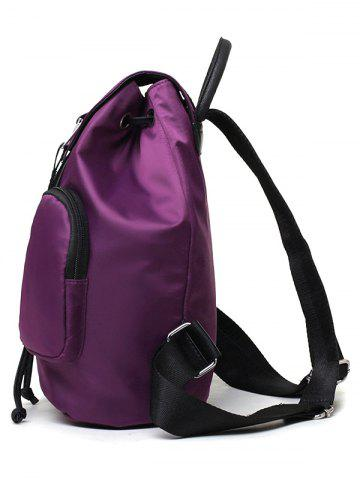 Buy Casual Nylon Front Pocket Backpack - PURPLE  Mobile