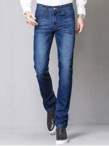 Outfit Slim-Fit Zip-Fly Straight Leg Jagger Jeans DENIM BLUE 36
