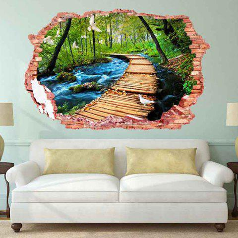 Buy 3D Stereo Removable Nature Landscape Living Room Wall Stickers - COLORFUL  Mobile