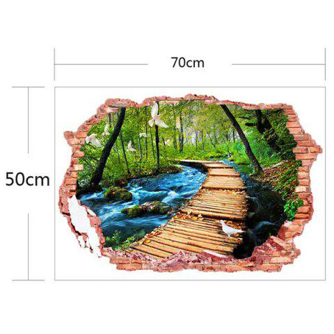 Affordable 3D Stereo Removable Nature Landscape Living Room Wall Stickers - COLORFUL  Mobile