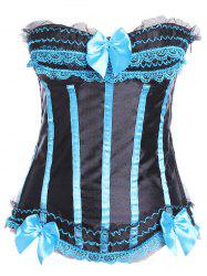 Zipper Lace Up Bandeau Corset