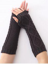 Christmas Winter Diamond Hollow Out Crochet Knit Arm Warmers -
