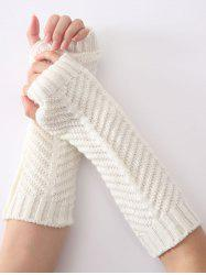 Christmas Winter Fishbone Crochet Knit Arm Warmers -