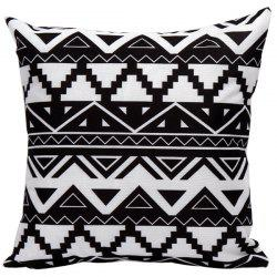 Soft Decorative Geometrics Sofa Bed Pillow Case -