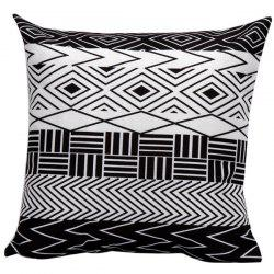 Soft Decorative Geometrics Stripes Sofa Bed Pillow Case -