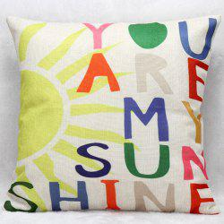 Hot Sale Colorful Letters Decorative Household Pillow Case
