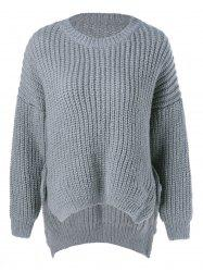 Asymmetrical Furcal Pullover Sweater