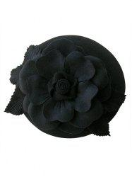 Wool Layered Floral Cocktail Hat