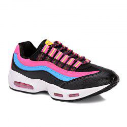 Breathable Colour Spliced Lace-Up Athletic Shoes