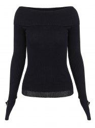 Boat Neck Long Sleeve Knitwear
