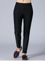 Beaded Mid-Waist Pencil Pants -