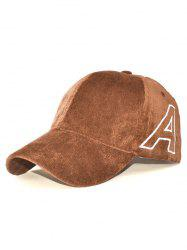 Casual Letter A Embroidery Corduroy Baseball Hat