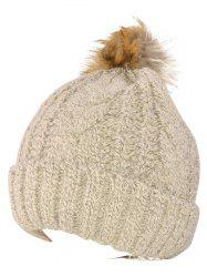 Warmer Beanie Knitted Fuzzy Ball Hat -