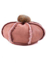 Winter Warmer Fleece Octagonal Beret Hat - RED