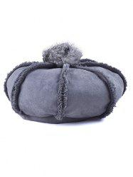 Winter Warmer Fleece Octagonal Beret Hat -