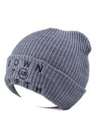 Warmer Beanie Knitted Letter Embellished Hat
