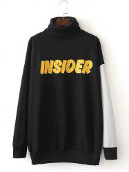 Gold Insider Letter Turtleneck Sweatshirt