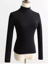 Lace-Up Mock Neck Knitted Sweater