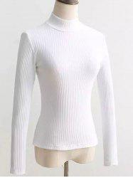 Dos Lace Up Turtleneck Pull - Blanc M