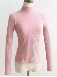 Lace Up Mock Neck Knitted Sweater
