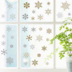 Christmas Snowflake Pattern Glass Window Wall Stickers For Toilet