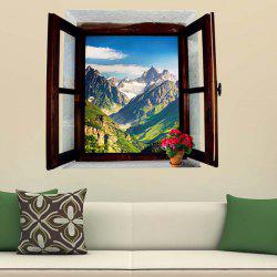 3D Stereo Removable Mountain Scenery Window Design Wall Stickers -