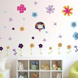 Colorful Floral Pattern Wall Decals Kids Room