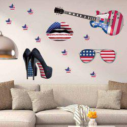 3D Stereo Removable Accessory Flag Design Living Room Wall Stickers
