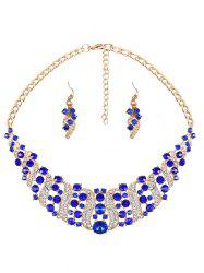 Hollow Out Rhinestoned Jewelry Set