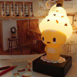 Ice Cream Cartoon Characters USB bureau Protection des yeux Lampe - Jaune