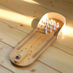 Hot Selling Mini Entertainment Wooden Desktop Bowling Game Set