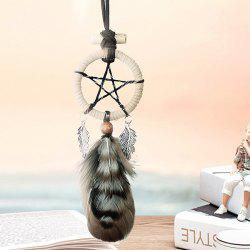 Hot Selling Circular Net With Feathers Pentagram Mini Dreamcatcher Wall Hanging Decor - COLORMIX