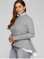 Plus Size Ruffled Peplum Sweater