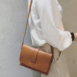 Strap PU Leather Crossbody Bag -