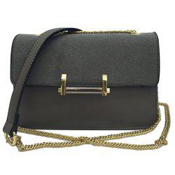 Metal Chains Suede Spliced Crossbody Bag