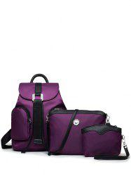 Casual Nylon Front Pocket Backpack -