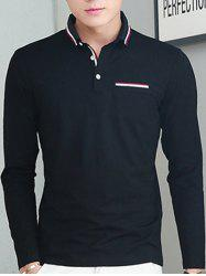 Long Sleeve Selvedge Polo Shirt