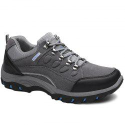 Metal Splicing Colour Block Athletic Shoes - GRAY 42