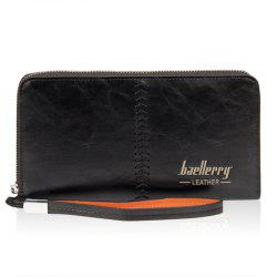 Broder Zip Around PU cuir Wallet -