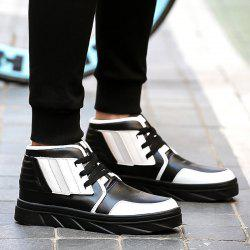 Stitching Tie Up Colour Spliced Boots -