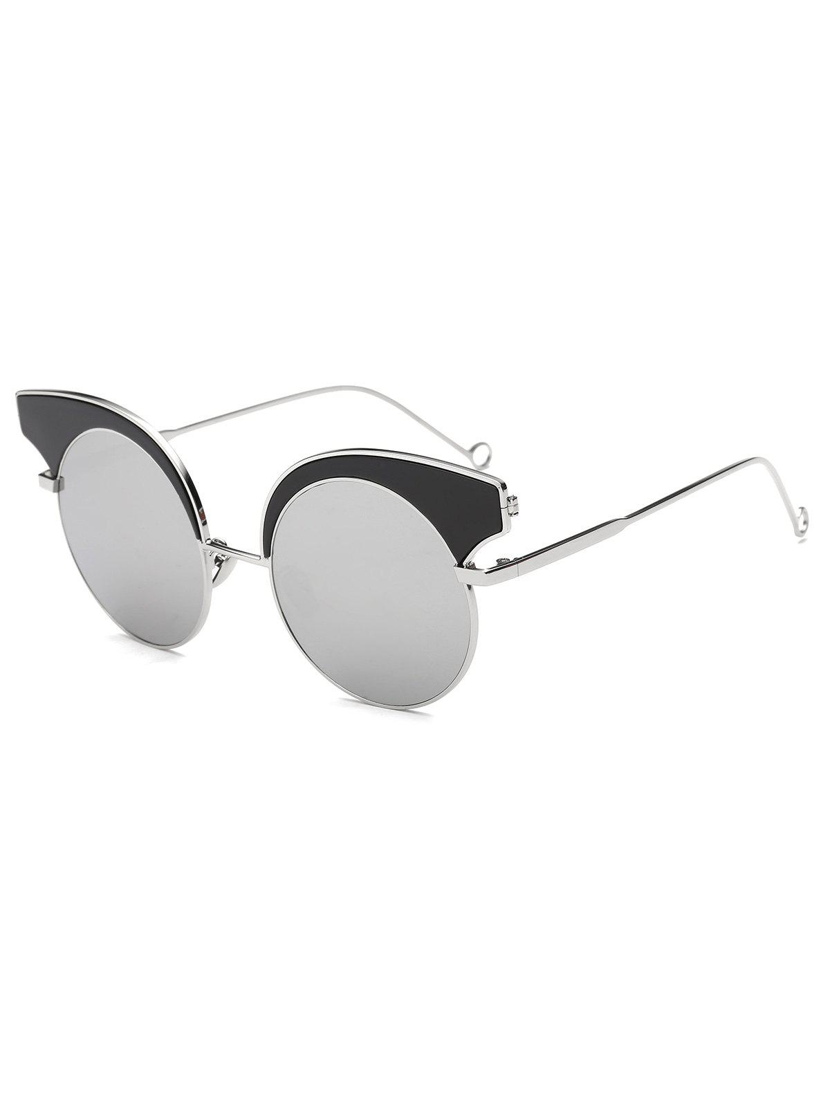 02a76cf33aa Trendy Cool Round Lens Butterfly Mirror Sunglasses