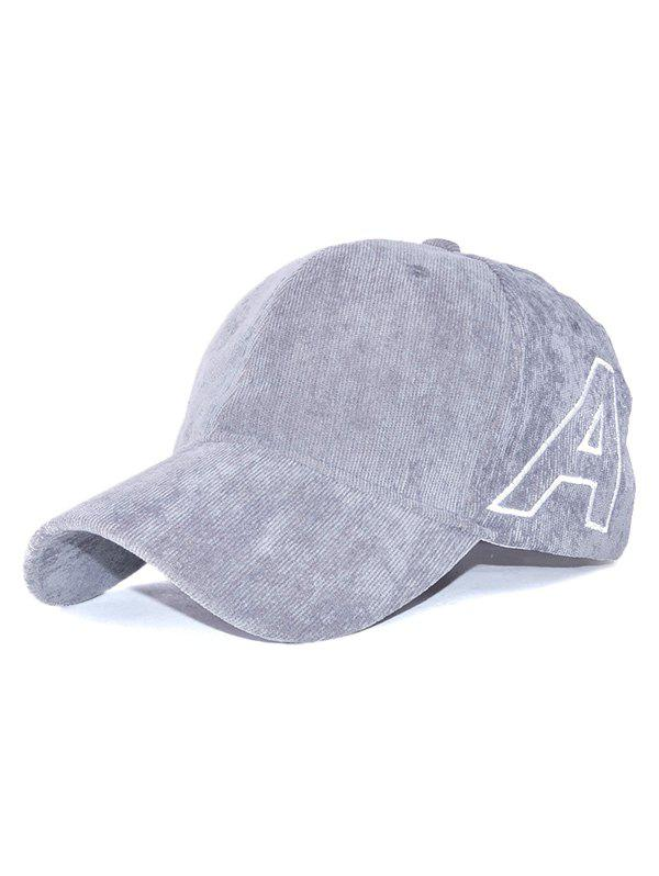 Outfits Casual Letter A Embroidery Corduroy Baseball Hat